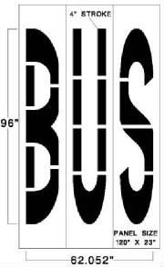Federal Specification (MUTCD) Stencils