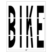 "48"" Federal Style BIKE Lane Stencil"