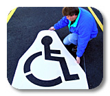 Parking Lot & ADA Handicap Stencils