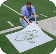 Athletic Field Mascot Stencils